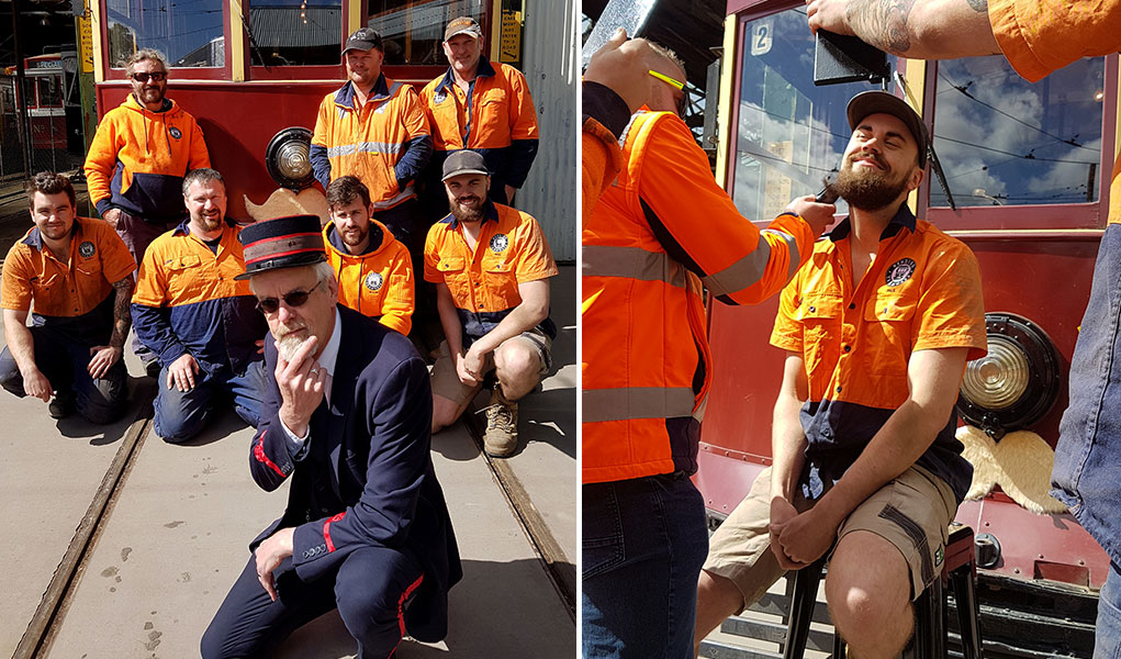 Bendigo Tramways crew grow mustaches for Movember