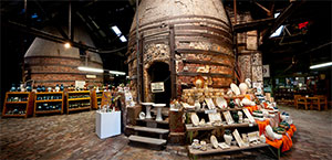 Brick Kilns and Gift Shop within the Bendigo Pottery