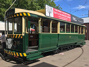Vintage Talking Tram 7 at the Bendigo Tramways Depot