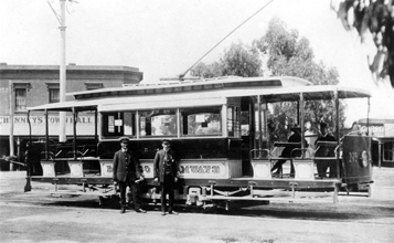 010 Three-window-ESCo-tram-at-Eaglehawk-terminus-undated-Custom
